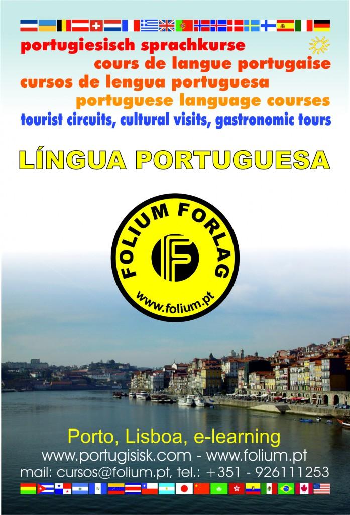 panfleto cursos português Folium Forlag